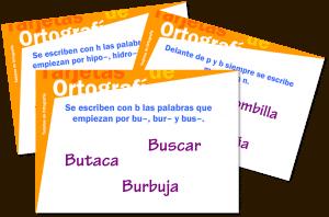 Tarjetas de ortografía