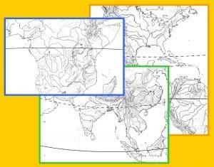 Nuevos mapas físicos mudos