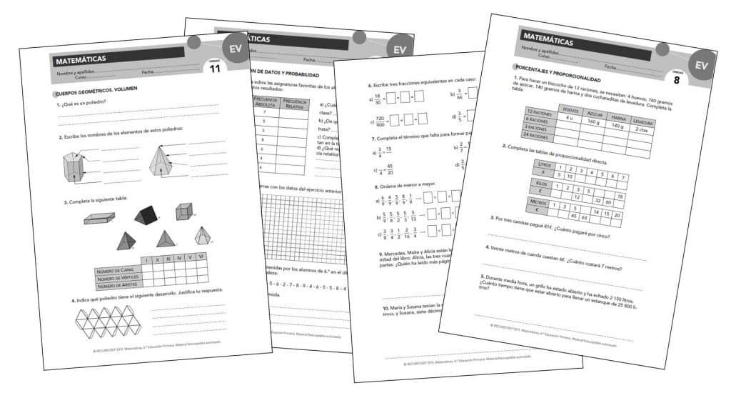 Evaluaciones Propuestas Aprender Es Crecer Anaya M6
