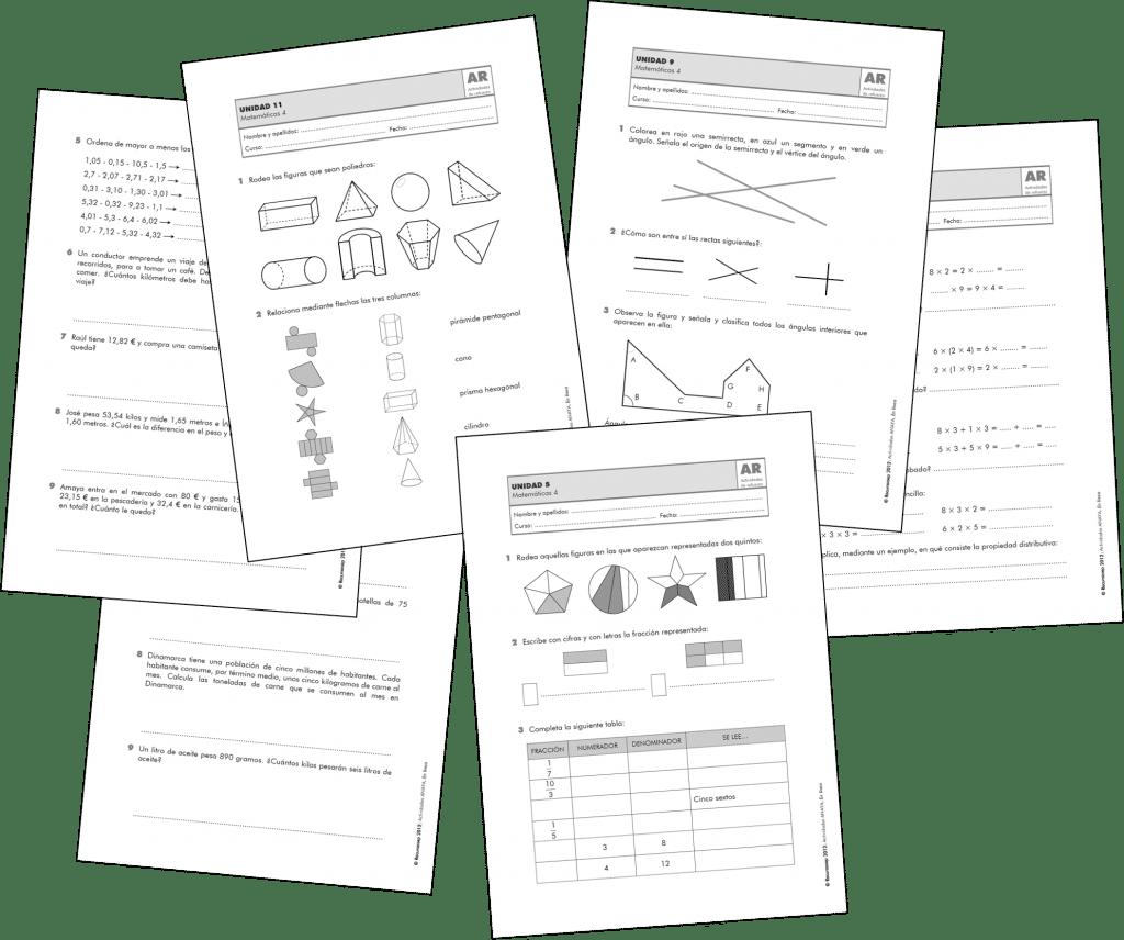 Actividades de Matemáticas – 4.º de Primaria
