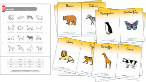 Animal worksheet and classroom posters