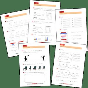 Actividades de Matemáticas – Sumas, restas, escritura de números y ordenación