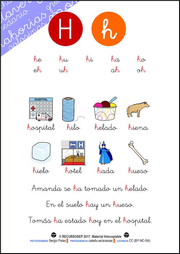 Cartilla para leer – H