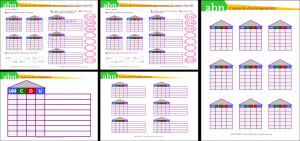 Método ABN. Casitas de descomposición para números de cuatro cifras