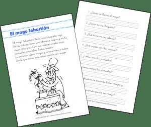 El mago Sebastián – Comprensión Lectora (1.º de Primaria)