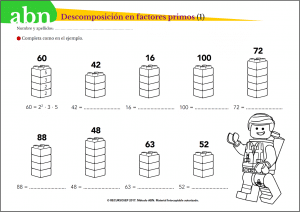 Método ABN. Descomposición en factores primos
