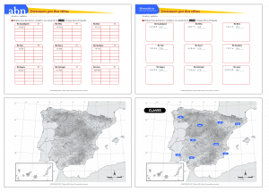 Divisiones por dos cifras y principales ríos de España (Método ABN / Tradicional)