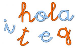Letras Montessori – Plantilla con fuente ligada