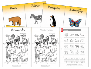 English – Animals worksheets