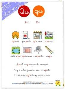 Taller de lectoescritura: LETRA Q – Hojas de lectura y actividades