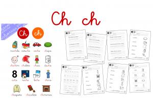 Taller de lectoescritura: CH – Hojas de lectura y actividades
