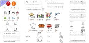 Hojas de lectura y cuadernillo de actividades: letra F