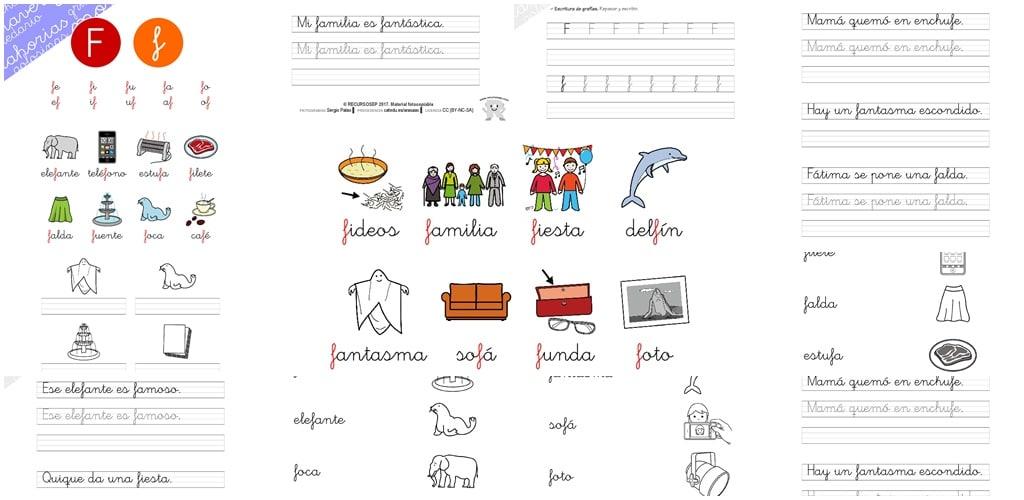 Dorable Letra F Hoja Para Colorear Embellecimiento - Ideas Para ...