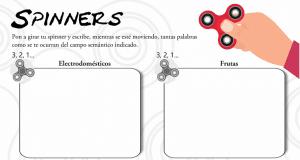 Los «spinners» llegan a las aulas: Los campos semánticos