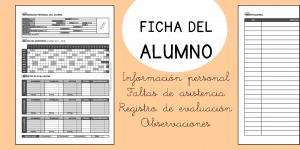 Ficha del alumno: control de asistencia para el curso 2017 – 2018