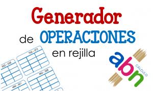 Generador de operaciones ABN en rejilla