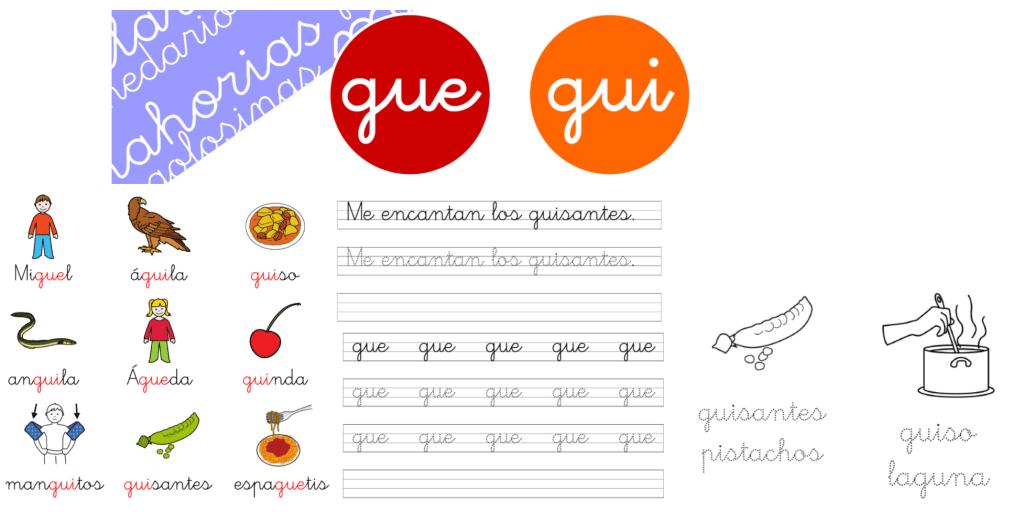 Gue Gui Portada Recursosep Fichas Actividades Imprimir