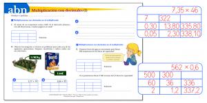 Método ABN. Multiplicaciones con decimales en un factor