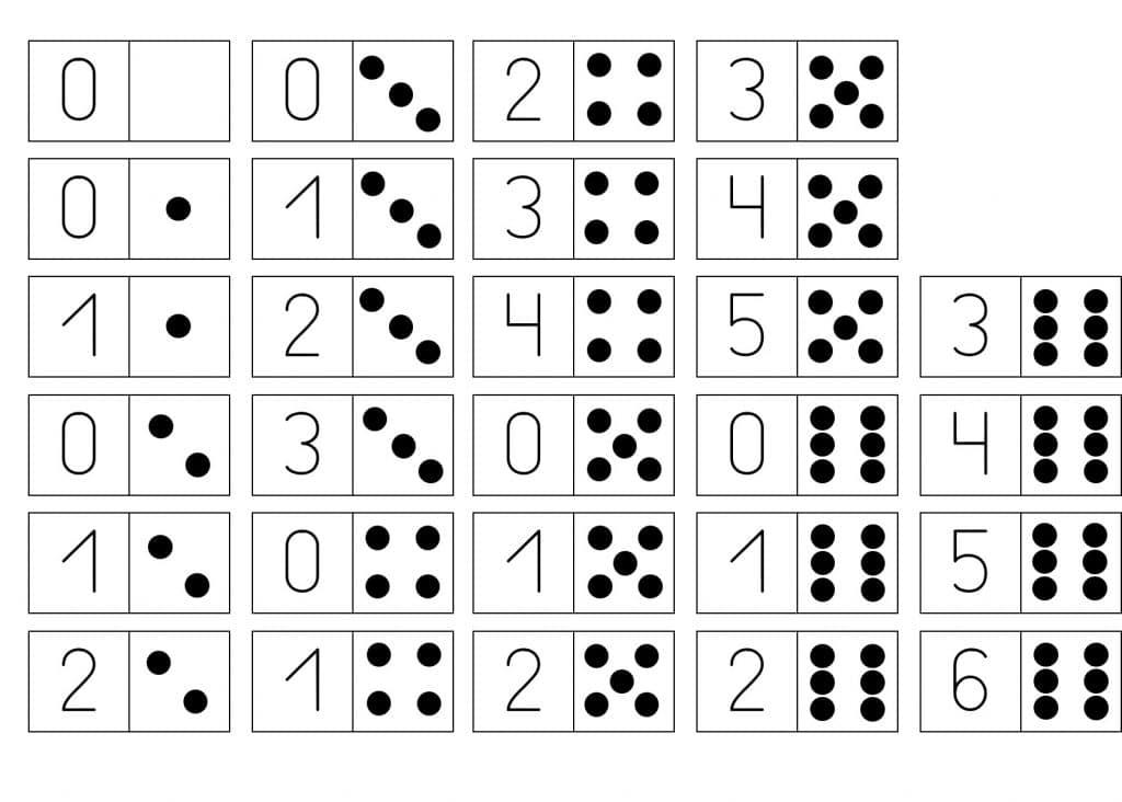 5 dominós descargables para Educación Infantil: números, formas y ...
