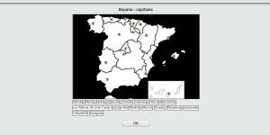 Juegos interactivos de Geografía: comunidades, provincias y capitales de España y ríos de Europa
