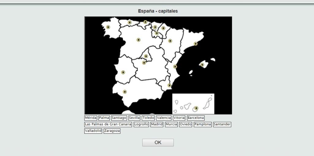 Juegos interactivos de Geografa comunidades provincias y