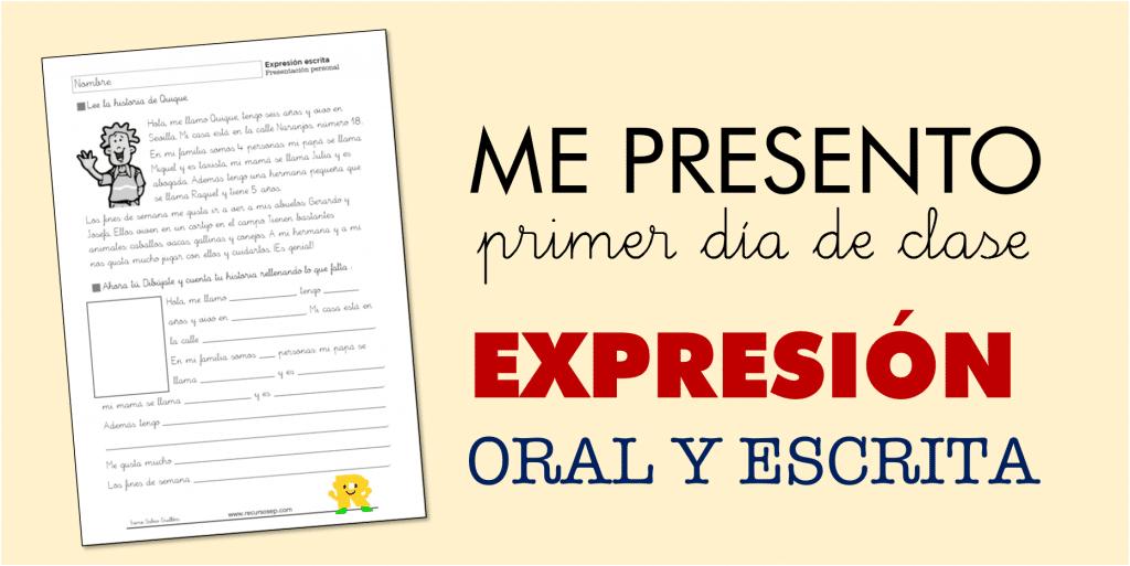 Presentaci n para el primer d a de clase expresi n oral y for Actividades para el primer dia de clases en el jardin