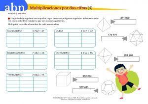 Método ABN. Multiplicaciones por dos cifras y poliedros regulares