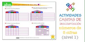 Método ABN. Ficha de descomposición de números de 5 cifras (sin decimales)