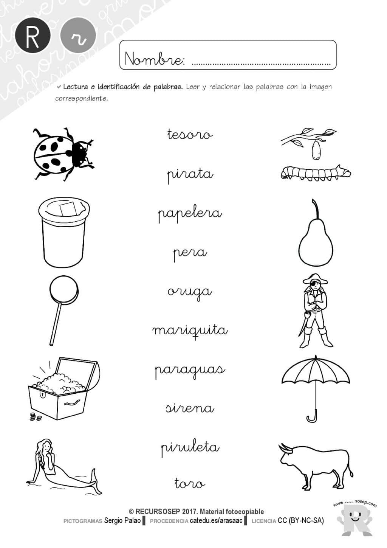 Material lectoescritura: LETRA R suave (Cartilla y batería de ...