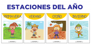 Láminas de las estaciones del año para el aula