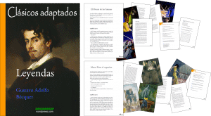 Libro Leyendas de Bécquer adaptadas (Tercer ciclo de Primaria)