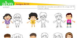 Amigos del 10: personajes con camisetas numeradas (FICHA)