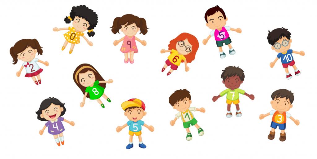 Amigos del 10: personajes con camisetas numeradas (LÁMINAS PARA ...