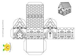 Recortable: Construye una casita de jengibre