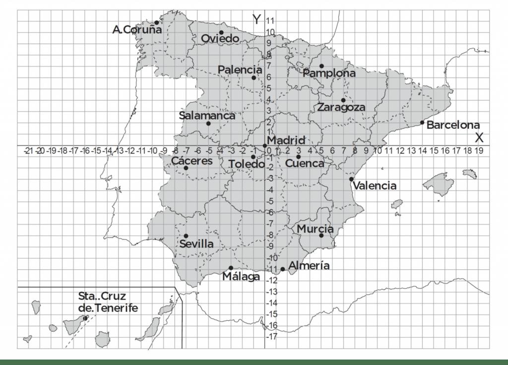 mapa coordenadas mapa españa coordenadas cartesianas mapa coordenadas