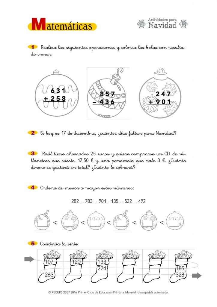 Actividades NAVIDEÑAS de Matemáticas y Lengua (para todos los ciclos ...