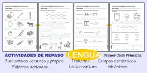 Actividades de repaso de Lengua – Primer ciclo de Primaria