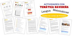 Actividades NAVIDEÑAS de Matemáticas y Lengua (para todos los ciclos de Primaria)