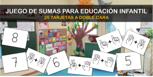 Juego de sumas para Educación Infantil (25 tarjetas a doble cara)