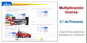 Multiplicación inversa (5.º de Primaria)