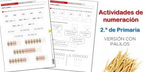 Actividades de numeración para 2.º de Primaria (dos niveles)