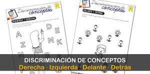Discriminación de conceptos: izquierda-derecha y delante-detrás