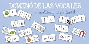 Dominó de las vocales para Educación Infantil