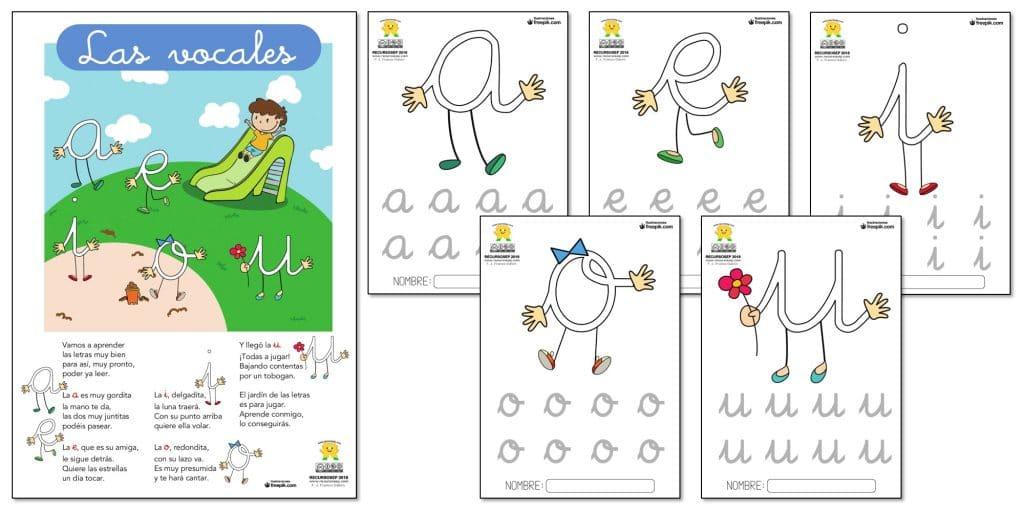 Poesia De Las Vocales: Poesía Para Aprender Las VOCALES + 5 Fichas Para Niños