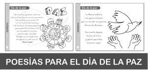 Poesías para el DÍA DE LA PAZ