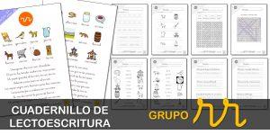 Cuadernillo de lectura y escritura: grupo RR