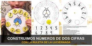 Construimos números de dos cifras con la ruleta de la luciérnaga