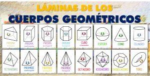 Láminas de los cuerpos geométricos para el aula