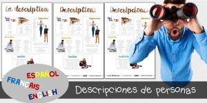 Descripciones de personas: español / english / français