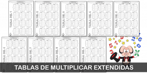 Tablas de multiplicar extendidas – Actividades